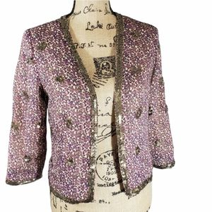 Love 21 Bohemian Sequin Lined Jacket GUC XS